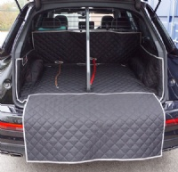 Audi SQ7 (2015 onwards) Quilted Waterproof Boot Liner ( 5 seat Mode) Dog Guard