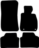 BMW 3 Series Saloon 2005 - 2011 (E90) (Two Locator) Fitted Car Floor Mats product image