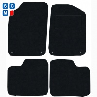 Fiat 500 2012 - onwards (Four clips) Fitted Car Floor Mats product image
