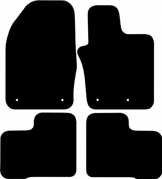 Fiat 500X 2014 - onwards (271mm locators) Car Floor Mats product image