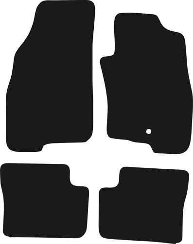 Fiat Punto 2012 - Onwards (1 locator) Fitted Car Floor Mats product image