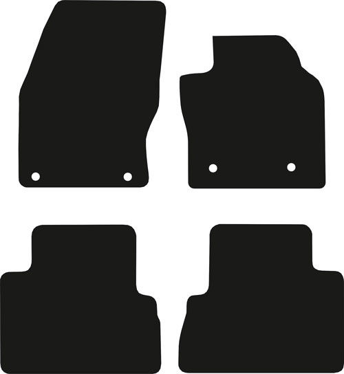 Ford C-Max 2010 - Onwards (4x Oval)(C344) Car Floor Mats product image