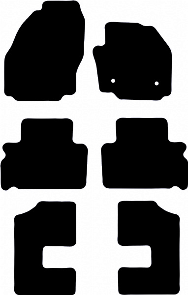 Ford Galaxy 2006 - 2015 (MK3)(Round- 283mm Locator Spacing) Floor Mats product image