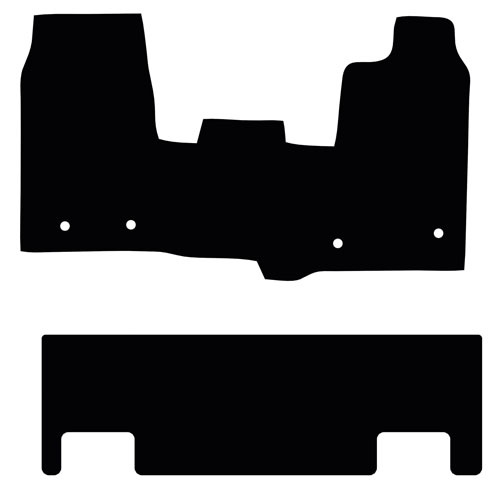 Ford Transit Custom 2013 - 2016 (4x FIXINGS)(Double Cab)(DBL DR) Floor Mats product image