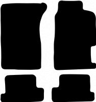 Honda Prelude 1992 to 1996 Fitted Car Floor Mats product image