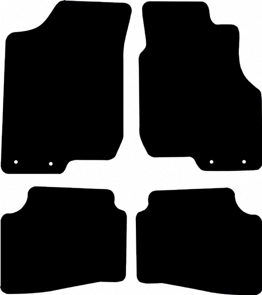 Hyundai i30 2007 - 2012 (Twin Locators Drivers And Passengers) Fitted Car Floor Mats product image