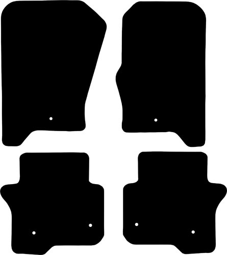 Land Rover Discovery 4 2009 - 2016 (6 Locator) Fitted Car Floor Mats product image