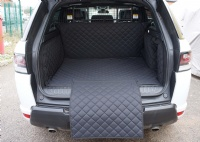 Land rover Range Rover Sport (2013 - 2018) (5 Seater Only) Quilted Boot Liner (with a Dog Guard in use)
