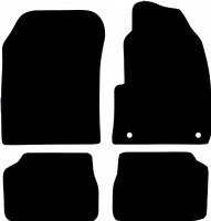 Peugeot e208 2020 - Onwards (Electric)Fitted Car Floor Mats product image