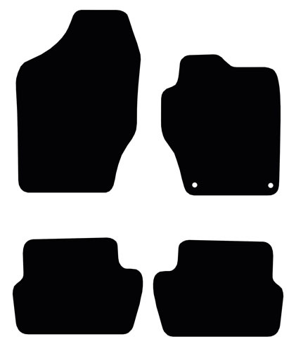 Peugeot 308 (2007 - 2013) (2 locator) Fitted Floor Mats product image