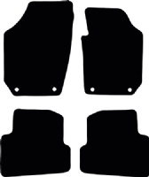 Skoda Fabia 2007 - 2014  (5J) (4 Oval locators) (26cm see notes) Fitted Floor Mats product image