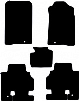 Ssangyong Kyron 2006 onwards (LWB) Fitted Car Floor Mats product image