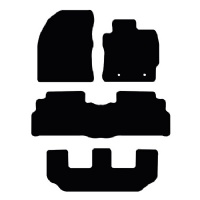 Toyota Verso (2009 - 2012) 7-seater (Round Clips) Fitted Floor Mats product image