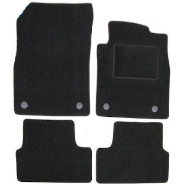 VAUXHALL MERIVA 2010 ONWARDS TAILORED BLACK CAR MATS WITH BLUE TRIM