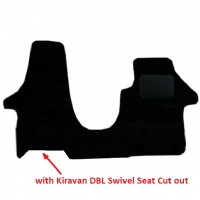Volkswagen Camper Van T6 2015 onwards with Swivel Passenger Seat - T6_024 Fitted Car Floor Mats product image