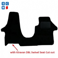 Volkswagen Transporter (2015 - Onwards) with Swivel Passenger Seat - T_024  Car  Mats